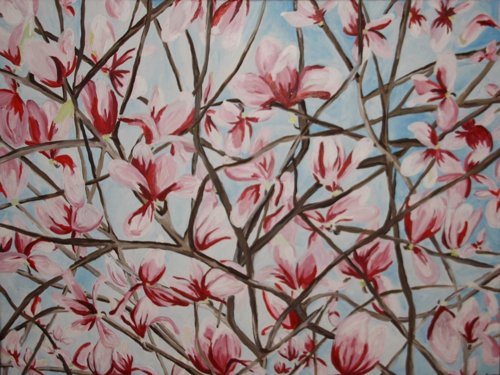 """Magnolia Branches""  2008  Acrylic on Canvas  50 x 40  $520"