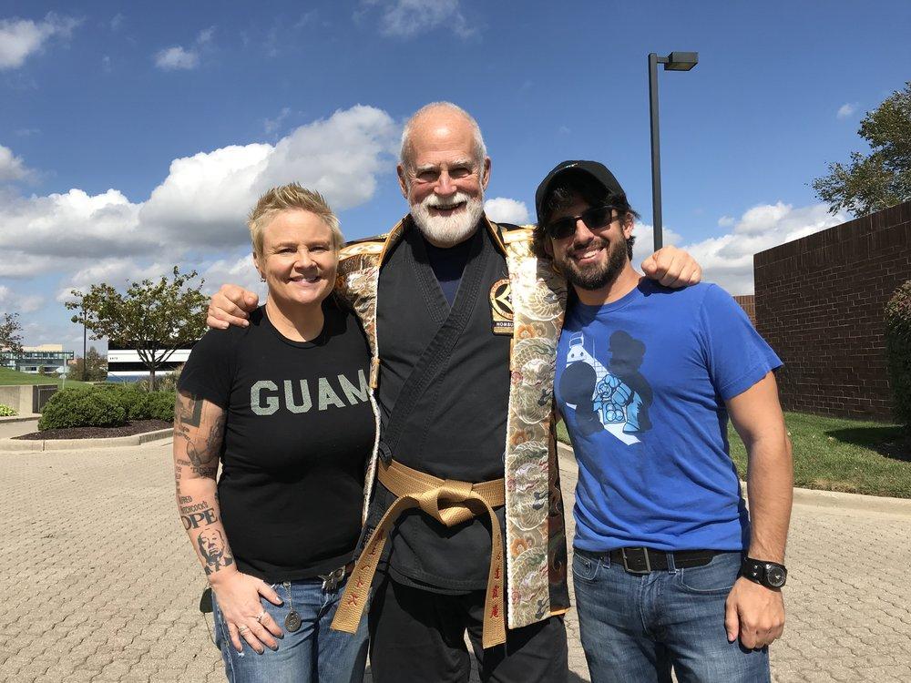 Joanne Filan and I with American Ninja Master Stephen K. Hayes!