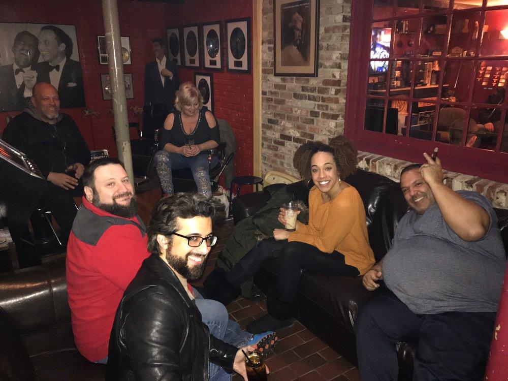 After hours (Ian Clark, Vanessa Smith, Jay Grove, Jim Hanley, Lisa Hanley)