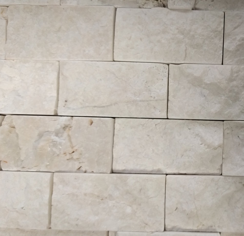 Vanity Accent Tile: Floor & Decor Rock Ridge Pearl Stacked Stone Brick Marble Mosaic Size: 11 x 12 SKU: 932100197