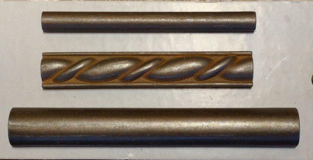 Finish 7 - Maniscalco Sydney Harbor Metals Mosman 1/2 x 6 A8085 pencil tile