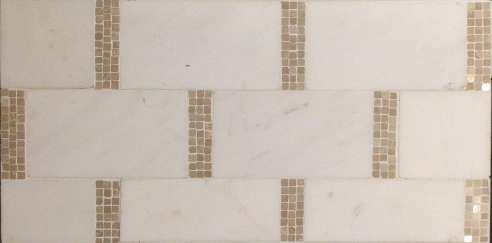 Finish 3 - White Brick with Tan Mosaic