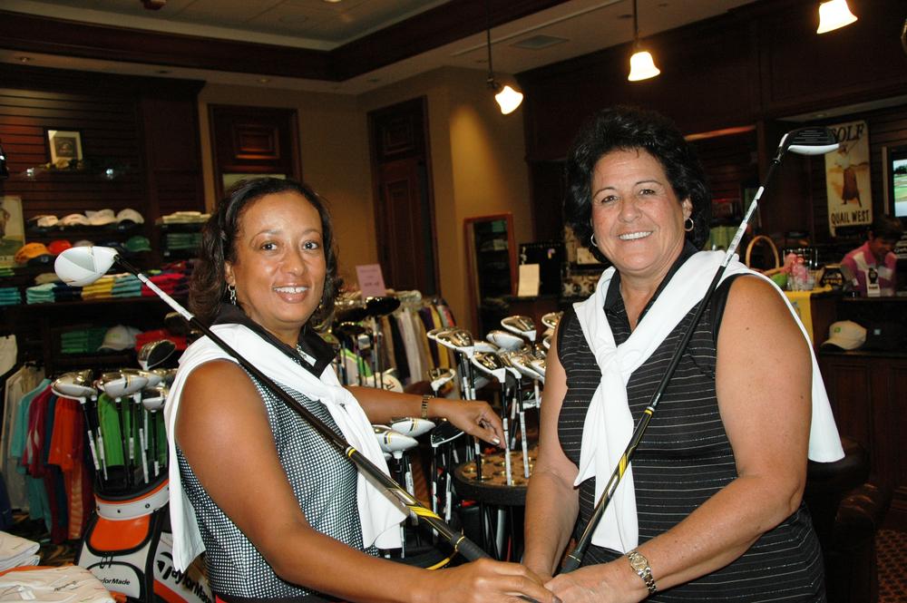 Diana Riley and professional golfer, Nancy Lopez