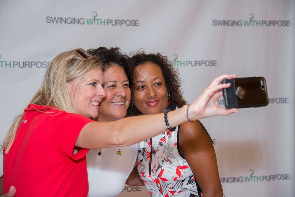Amy Hale, BMO Private Bank, Nancy Lopez and Diana Riley, Founder, Swinging With Purpose