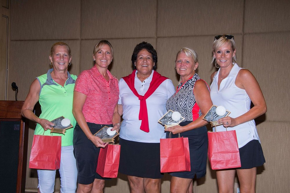 Ladies' Winning Team Photo – Debbie Speranza, Natalie Cortese, Nancy Lopez, Renee Kiela, Lisa Riso