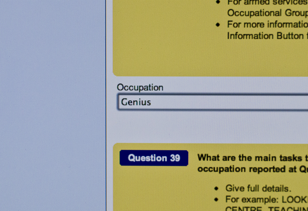 Census night, and the best job description in the world
