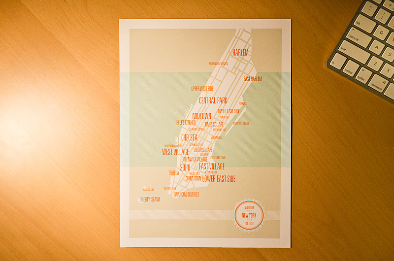 """The awesome Manhattan Neighbourhoods Map from """" these are things """"now to have it framed"""