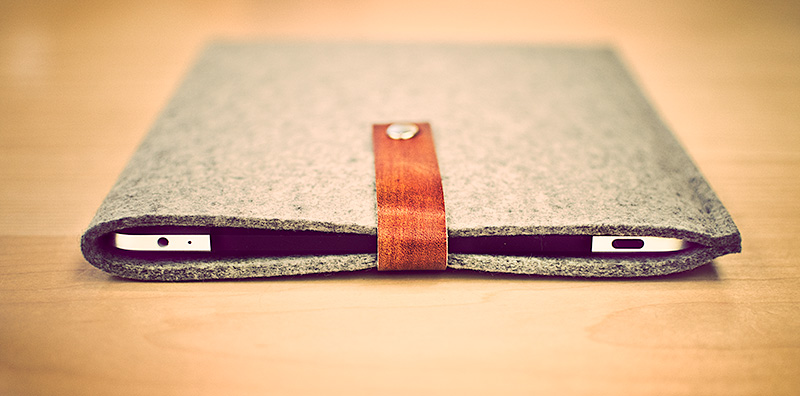 My new iPad & MacBook Air case's arrived. Beautiful, handmade and simple.   http://www.byrdandbelle.com/
