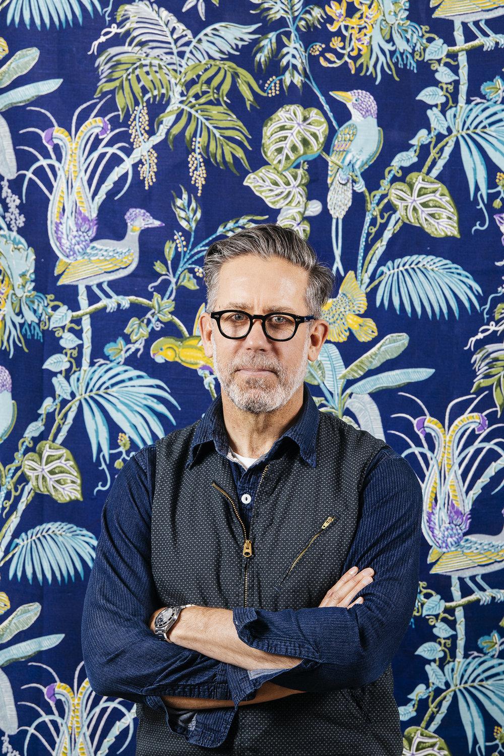 Textile artist Bruce Slorach