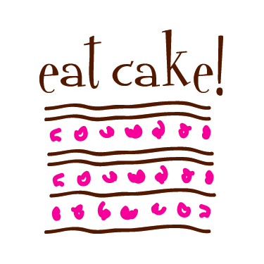 Eat Cake!:     Logo design for retail cupcake store and specialty cake designer.