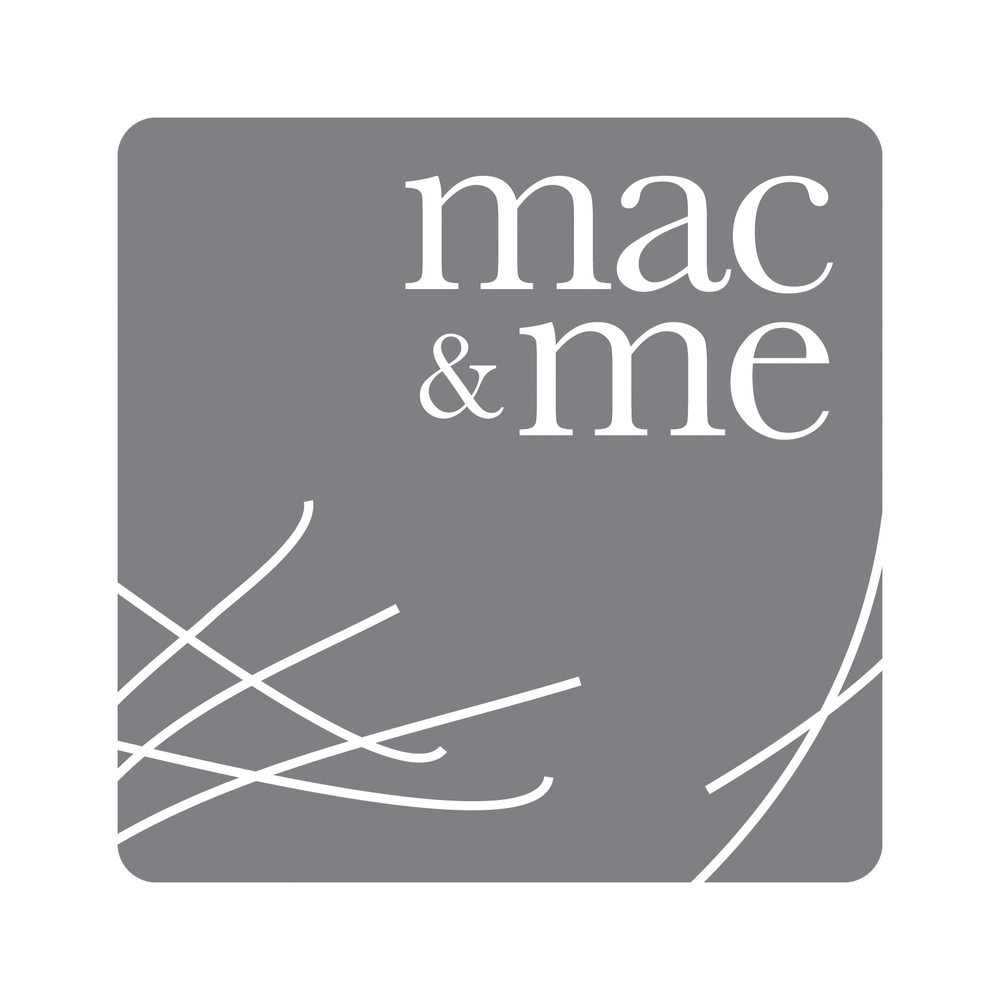 Mac & Me:     Logo design for textile design company.