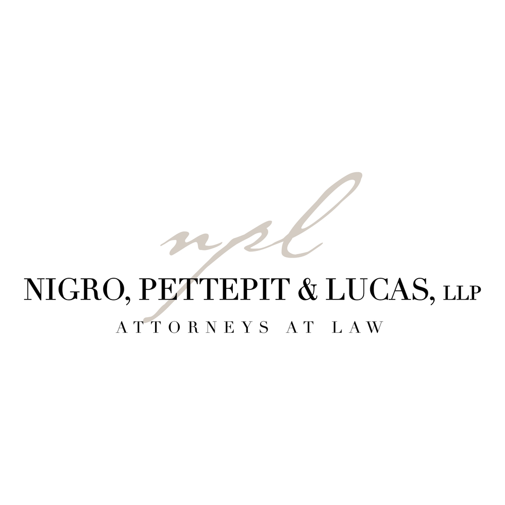 Nigro, Pettepit & Lucas, Attorneys at Law:    Logo design for mid-size law firm.