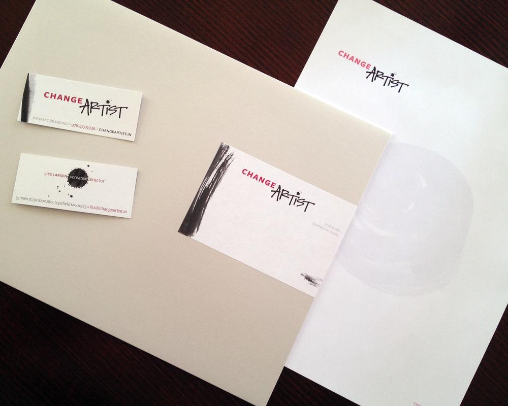 Change Artist:    Design of logo and branding materials.
