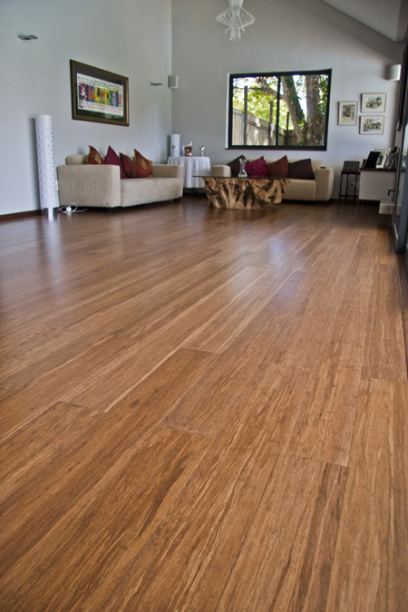 Green and modern Bamboo flooring