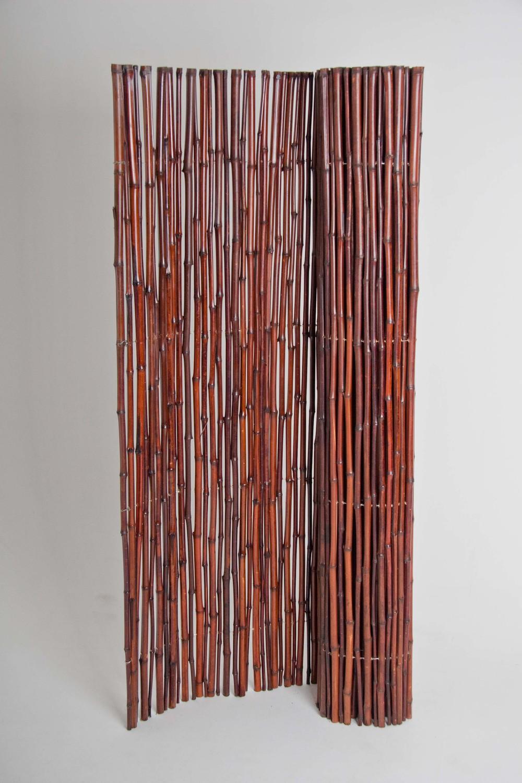 Mahogany bamboo rolled fencing