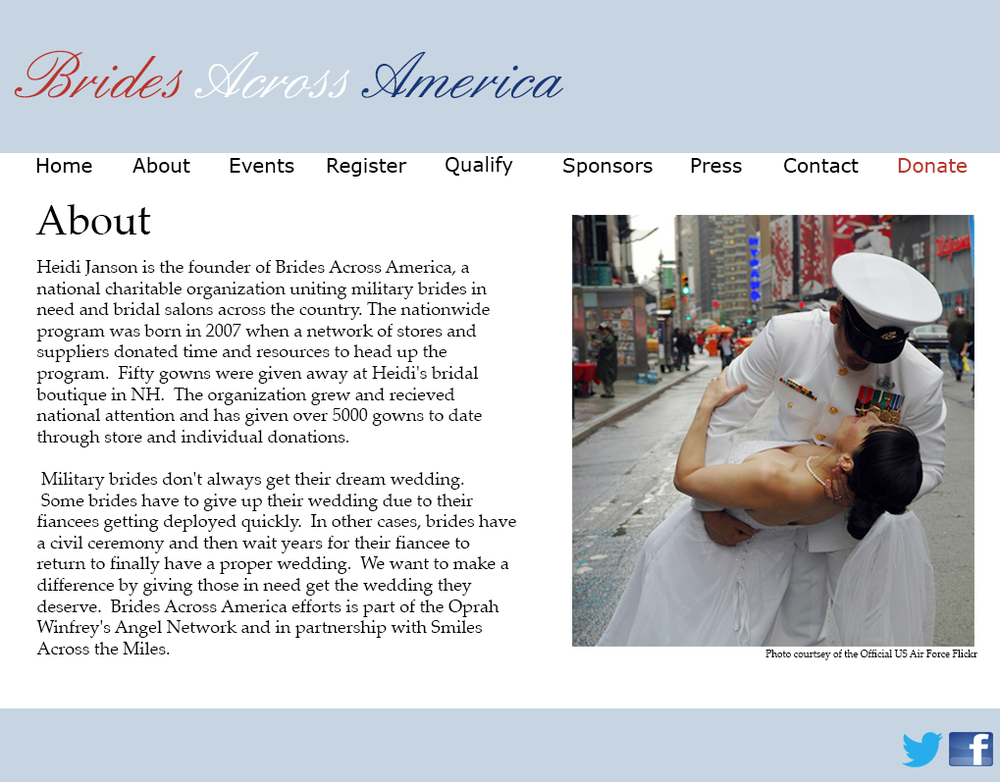 Brides Across America Web Design