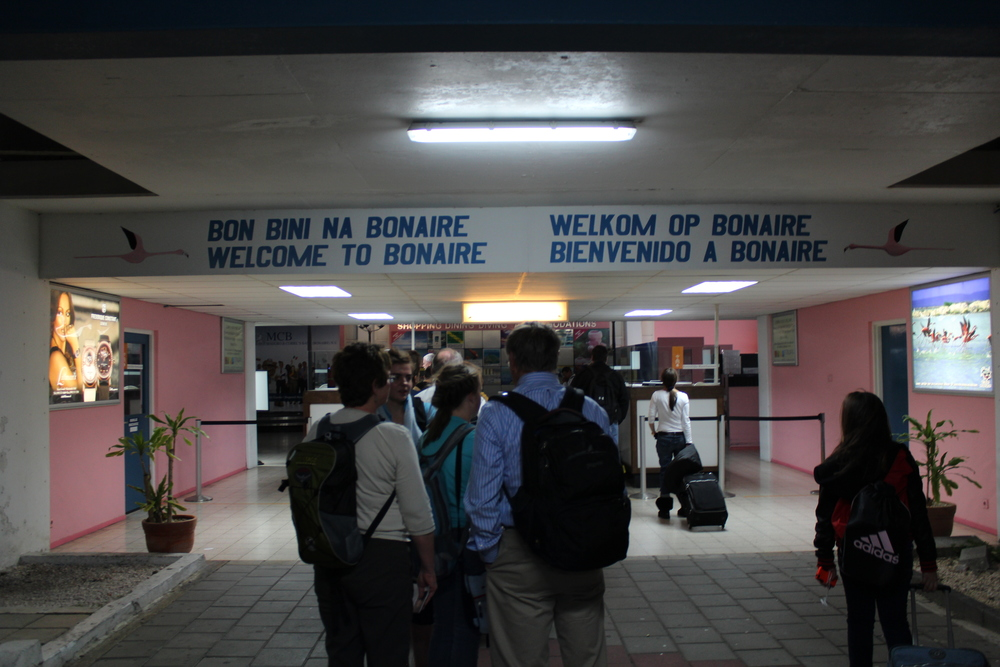 Arriving at the Bonaire Airport
