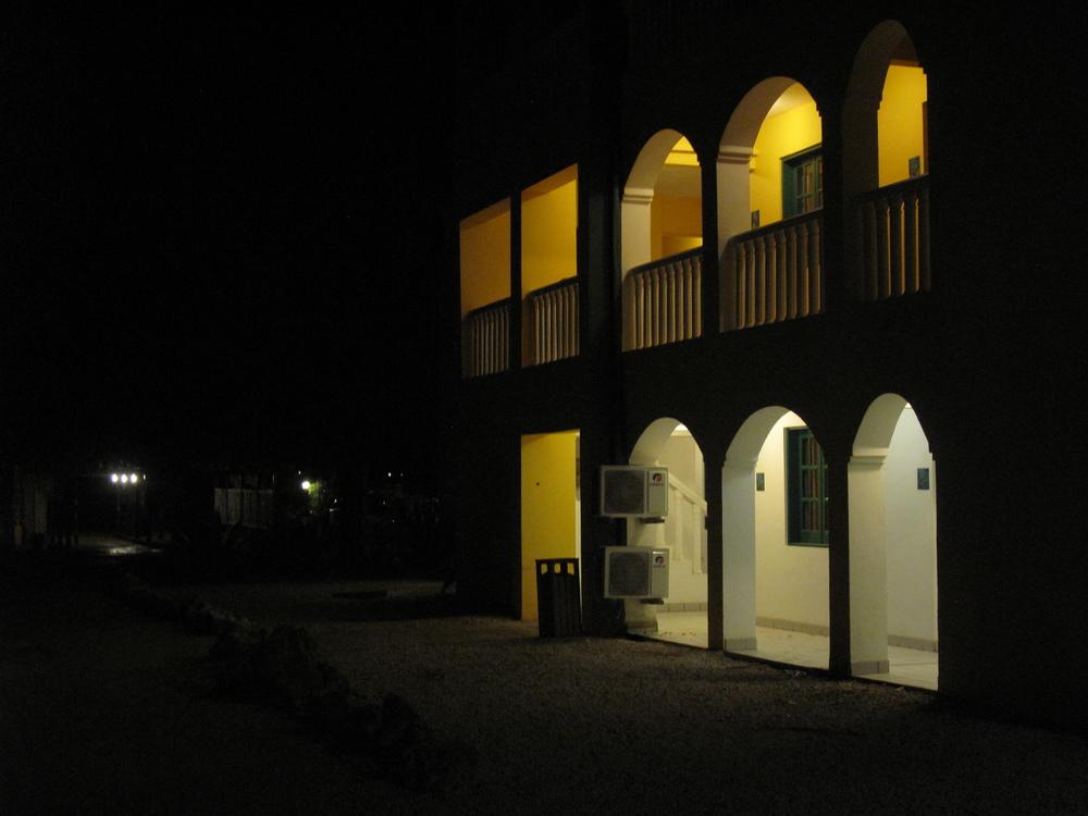 Our villa at night