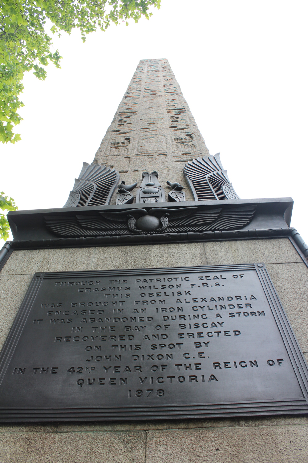 Cleopatra's needle. There are also Egyptian obelisks in New York and Paris :0