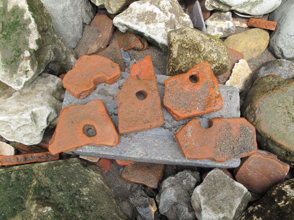 Medieval roof tiles