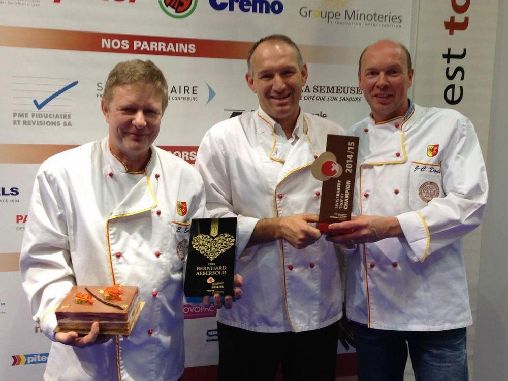 De gauche à droite : Eric Emery, Pierre-Alain Bourdenetet Jean-ClaudeDonche
