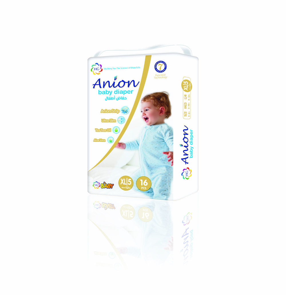 HG Anion Baby Diaper Extra Large 16'S (Above 12kgs)