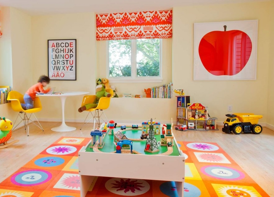 Geometric-and-floral-mat-in-brightly-colored-childs-playroom.jpg