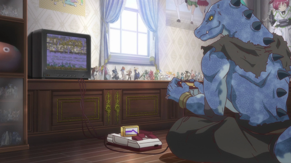 Lizard men can't get enough of their famicom.
