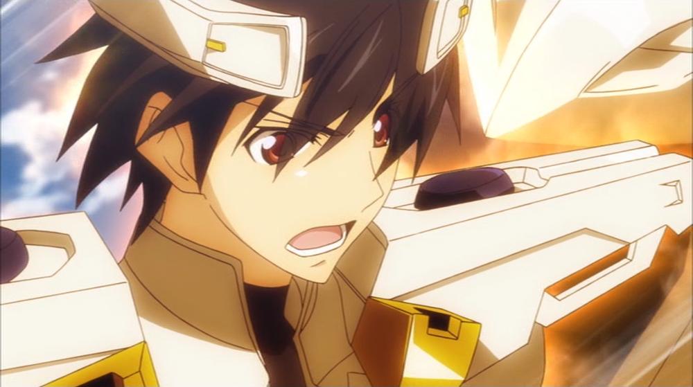 Ichika Orimura in his IS, the Byakushiki