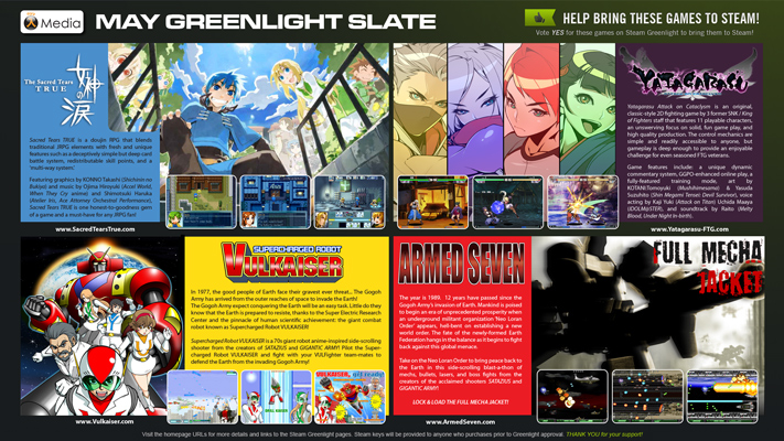 Nyu Media's   May Greenlight Slate   of 4 doujin games that hit Steam Greenlight 29th May