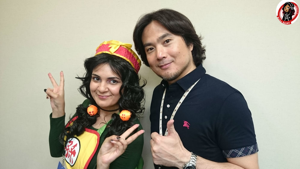 Aisha Anime with Hideo Baba at Bandai Namco HQ i Japan