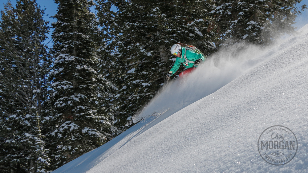 Here's Dave Rosen enjoying some late season goodness at Powder Mountain.