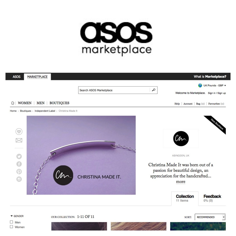 My most recent online shop Asos Marketplace, I sold a piece the day I launched.