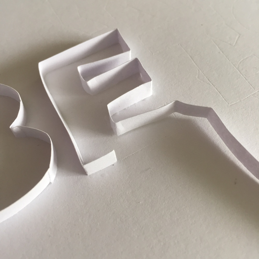 Creating the shape for the letter E