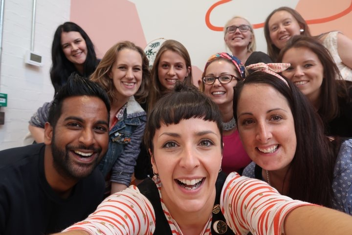 Our team attempt at an Oscars style selfie!