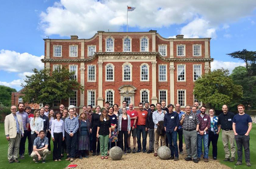 Attendees of the Sexual Selection meeting at Chicheley Hall, Buckinghamshire. Image: Rob Knell.