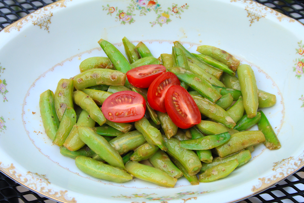 Sautéed Sugar Snap Peas with Lemon and Cream