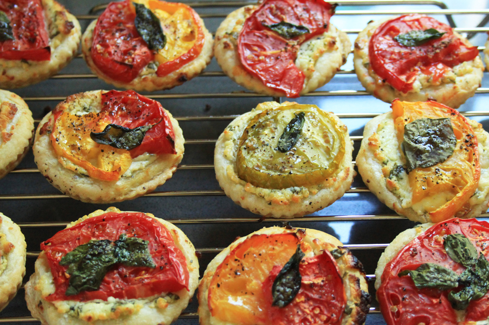 Heirloom Tomato Tartlets