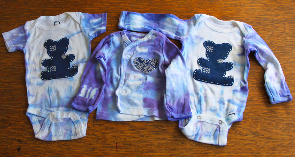 Tie-Dyed and Appliqued Onesies