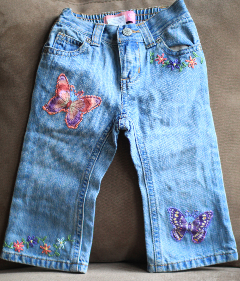 Hand Embellished Jeans for Toddler