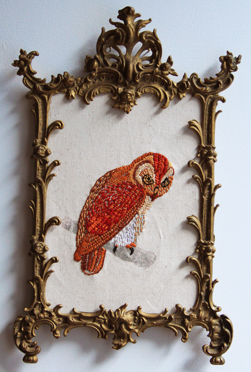 How to Make an Embroidered Owl