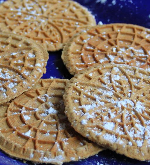Whole Wheat Cinnamon and Spice Pizzelle Recipe