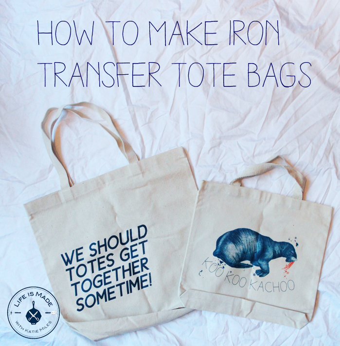 Iron Transfer Tote Bag Tutorial