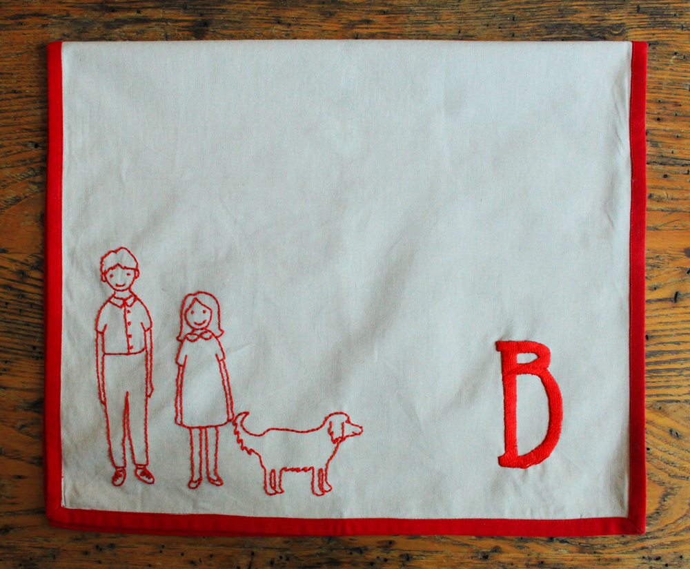Embroidered Tea Towel Tutorial