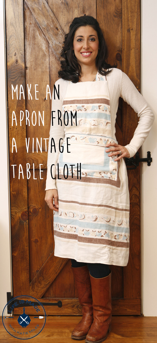 Vintage Table Cloth Apron Tutorial