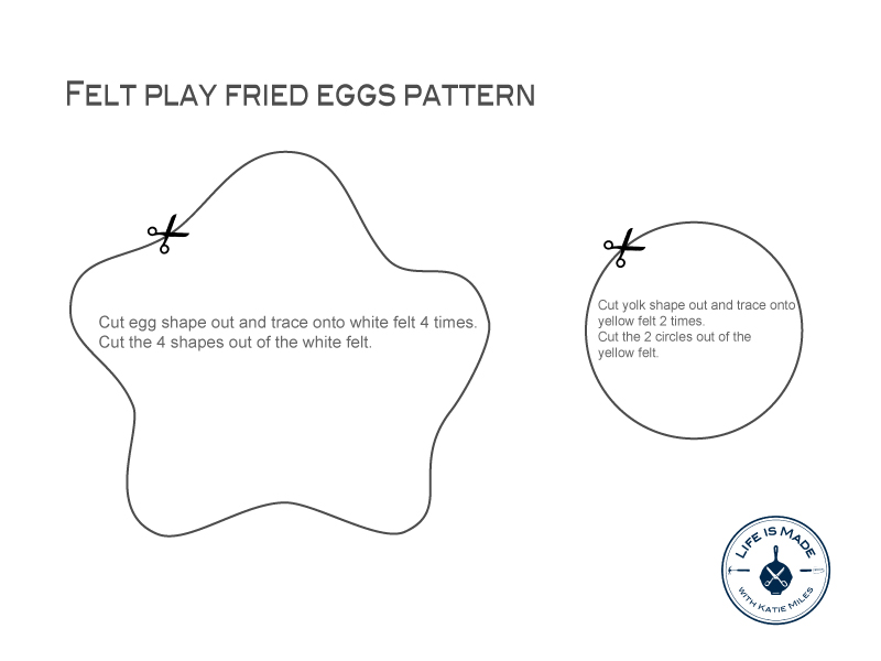 Diy Felt Play Food Fried Eggs Life Is Made With Katie Miles