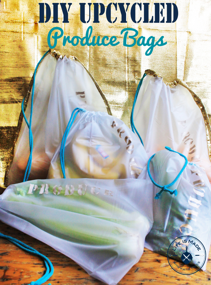 DIY Upcycled Produce Bags from a Shower Curtain