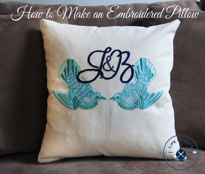 How to make an embroidered pillow free printables