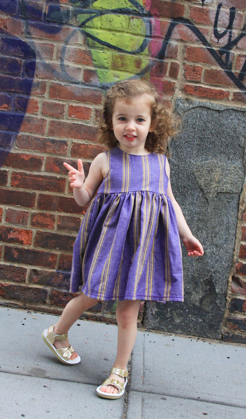 Tutorial for How to Sew a Button Back Tank Dress for a Little Girl // Life is Made with Katie Miles // www.lifeismade.com