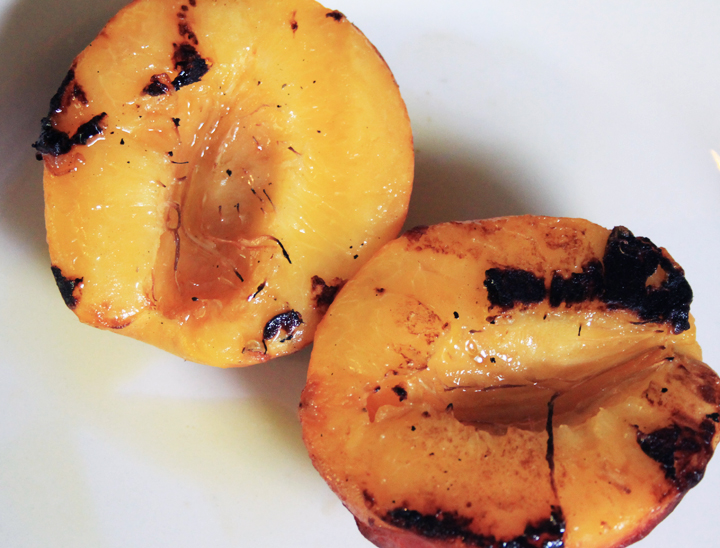 Grilled Peach and Toasted Almond Salad Recipe // Life is Made with Katie Miles // www.lifeismade.com